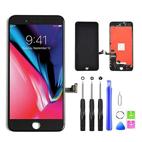 YoSuDa Für iPhone 8 Display ersatzbildschirm(4.7''), Ersatz Für LCD Touchscreen Display Reparaturset mit Werkzeuge (Schwarz)