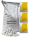 Naturzeolith Zeolith Filtermaterial Zierteich Gartenteich 25 kg + 3 Filterbeutel (2,5-5,0 mm)