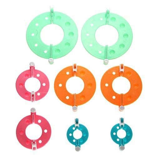 ULTNICE 8 Stück 4 Größen Pompom Maker Fluff Kugel DIY Nadel Handwerk Toolkit