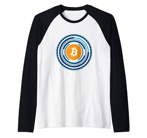 Bitcoin BTC Crypto Trader #bitcoin Future Freedom Gift Camiseta Manga Raglan