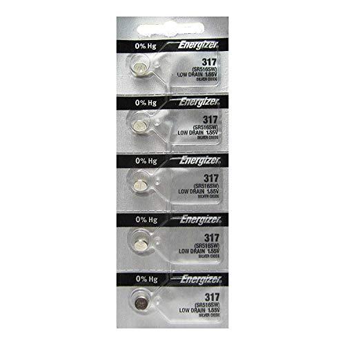 Energizer 317 Knopfzelle Silberoxid SR516SW Uhrenbatterie