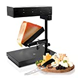 NutriChef Electric Raclette Cheese Melter Machine - Table Top Stainless Steel Cheese Grill