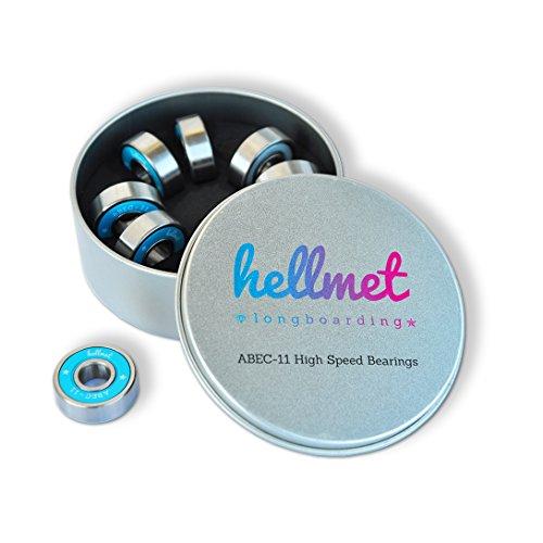 hellmet Roulement – billes Abec 11 – High Speed pour skateboard, Longboard, Rollers, Scooter, Waveboard, Fidget Spinner