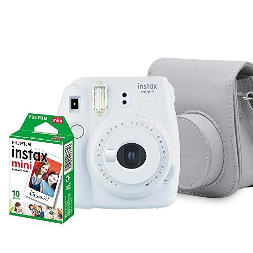 Kit Câmera Instantânea Fujifilm Instax Mini 9 Branco Gelo com Bolsa e Filme