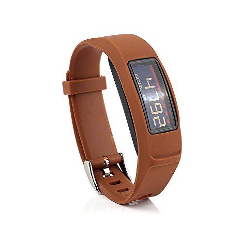 Pulsera de repuesto con hebilla, de Fit-power, para Garmin Vivofit 2 Band/Garmin Vivofit 2 Wristband/Garmin Vivofit 2 Fitness Band (sin monitor)., café