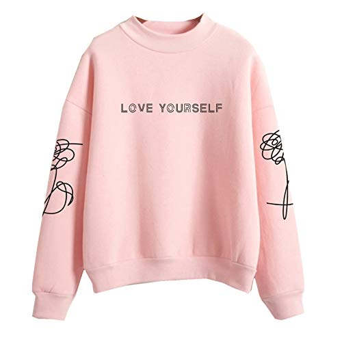 SERAPHY WOOKIT Unisex Kapuzenpullover Love Yourself Rollkragen Sweatshirts für Armee Suga Jimin Jin Jung Jook J-Hope Rap-Monster V Rosa M