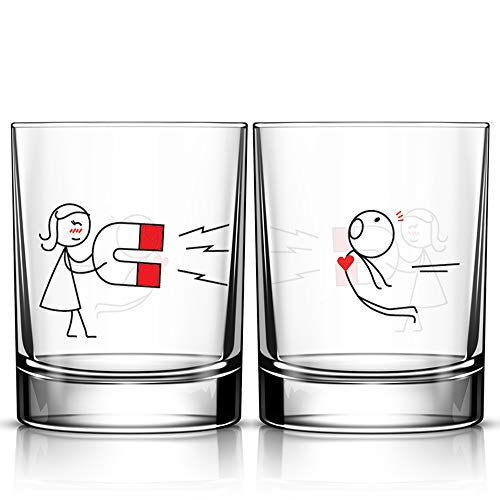 BOLDLOFT You're Irresistible His and Hers Drinking Glasses-Couples Gifts for Boyfriend...