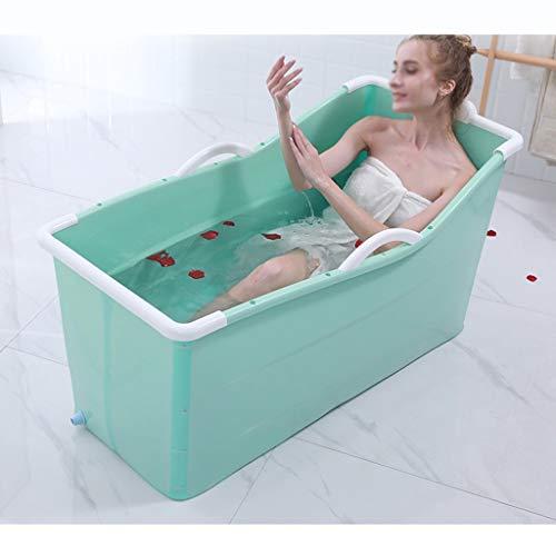 LDG Foldable Adult Bath Barrel, Portable Soaking Tub Insulation Bathtub Non-Inflatable Plastic Bathing Bucket Anti Slip