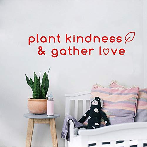 pegatina de pared 3d En la planta de Amazon, la bondad se reúne amor Etiqueta de la pared para el dormitorio de la sala de estar