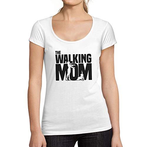 Ultrabasic - Camiseta de Mujer Walking Mom Camisa Impresión Blusa Regalo Blanco