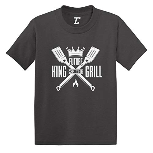 Future King of The Grill - Grillmaster Infant/Toddler Cotton Jersey T-Shirt (Charcoal, 4T)