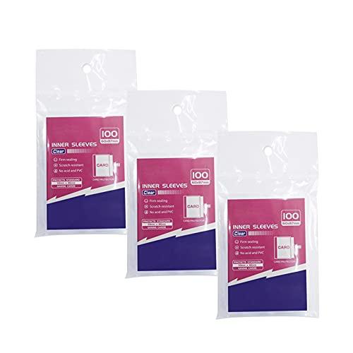 POHOVE 300 Stück Top Loader Kartenhüllen, Brettspiel Kartenhüllen, Top Loader Kartenschoner, Kartenhüllen Klare Kartenschoner für Sammelkarten, Baseballkarte, Sportkarten