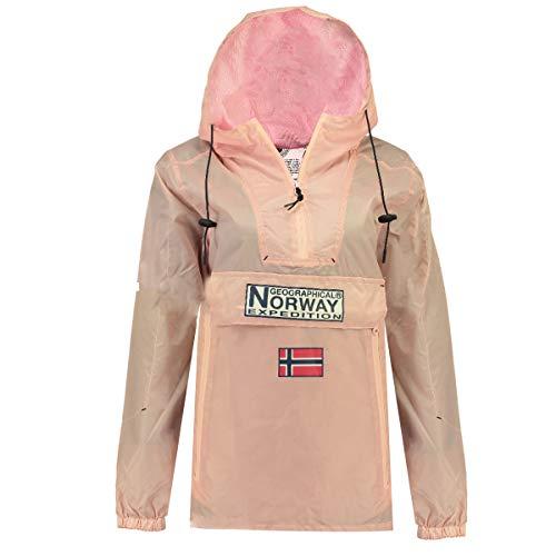 Geographical Norway Parka Cortavientos DE Mujer DOWNCITY Rosa Viejo 04