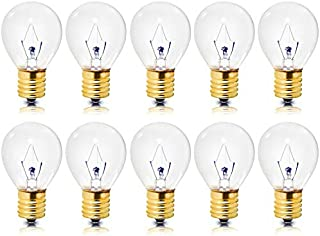 Pack of 10 | High Intensity Light Bulbs | 40 Watts | Specialty Lighting | S11 Incandescent, Dimmable | 2600K – 1,500 Life Hours | E17 Intermediate Screw Base| Clear Finish