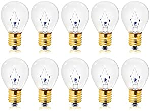 Pack of 10   High Intensity Light Bulbs   40 Watts   Specialty Lighting   S11 Incandescent, Dimmable   2600K – 1,500 Life Hours   E17 Intermediate Screw Base  Clear Finish