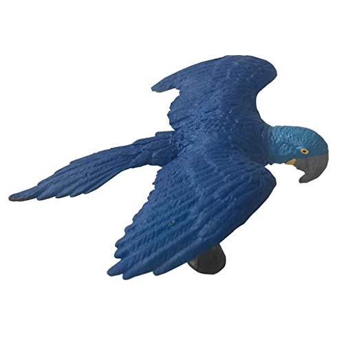 Fenteer Animaux Réaliste Sculptures Jouet Figurine Oiseau Micro Paysage - Ara Bleu