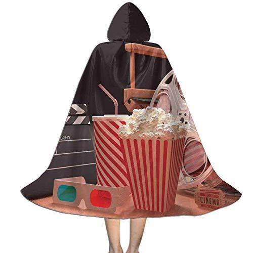 Amanda Walter Capa para nios Capa con Capucha Cine Palomitas de maz Cine Unisex Magia Navidad Halloween Fiesta de Brujas con Capucha Vampiros Capa de Boda