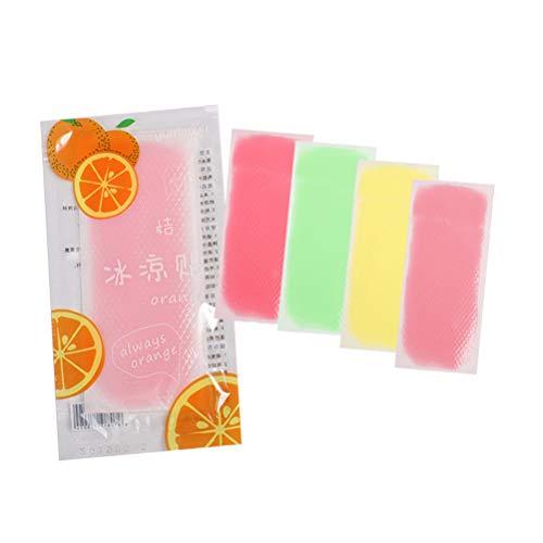 SUPVOX parche de enfriamiento parche de enfriamiento gel reductor de fiebre frente de gel de enfriamiento almohadilla de enfriamiento para niños adultos (patrón mixto de color mixto)