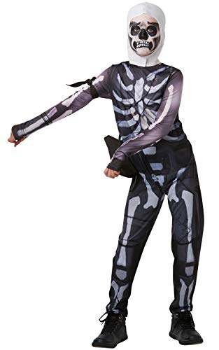 Fortnite - Disfraz Skull Trooper para Niños, talla Small Tween, 140 cm