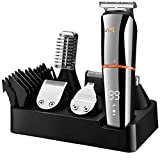 Vour Beard Trimmer for Men Digital Display Hair Clippers Body Mustache Nose Hair Groomer Cordless Precision Trimmer 6 in 1 Grooming Kit Waterproof USB Rechargeable