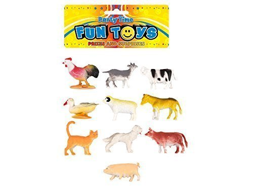 Pack x 10 Pour Enfants enfants Animal De Ferme Mini Jouet Jouer Les Chiffres Figurines Vache Cochon Cheval etc
