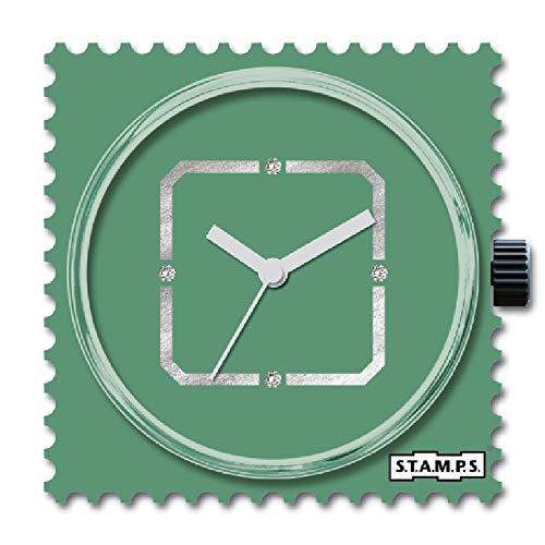 S.T.A.M.P.S. Reloj esfera Diamond Green Square 105935