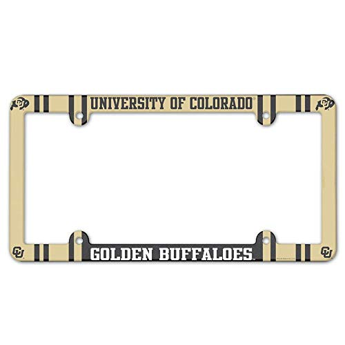 Wincraft NCAA License Plate with Full Color Frame, University of Colorado