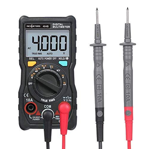FYYONG Prueba del sensor de mano multímetro digital multifunción RM404B Mini Multi Meter AC/DC Voltaje Transistor probador del amperímetro temperatura de salida de la sonda