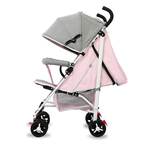 Sillas de Paseo, vagón portátil Plegable Ligero, Puede Sentarse o acostarse, toldo Ajustable, Desde el Nacimiento hasta los 25 kg