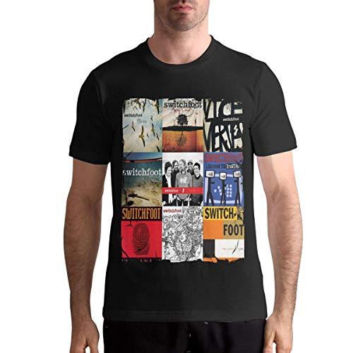 QQIAEJIA Switchfoot Shirt Men's Cotton T Shirt Fashion Round Neck Short Sleeve Tees Black