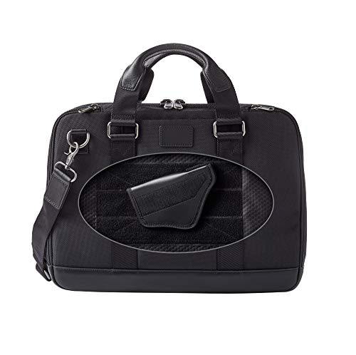 Dalys1895 Concealed Carry Briefcase Travel Bag / Laptop Bag, Leather and 1680 Ballistic Nylon