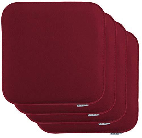 Brandsseller Zitkussen, vilt, hoekig, stoelkussen, zitkussen, oplegkussen, 35 x 35 x 2 cm