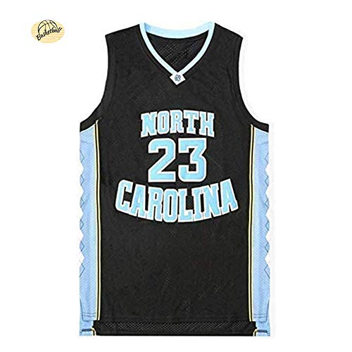 # 23 Jordan University of North Carolina Basketball Jersey,Unisex Summer Outdoor Quick-Drying Breathable Mesh Swingman Sweatshirt (S-2XL)-Black-M