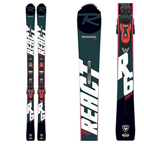 Rossignol React 6 Compact Xpress 11 Gw Esquís con fijación, Adultos Unisex, Negro, 163 cm