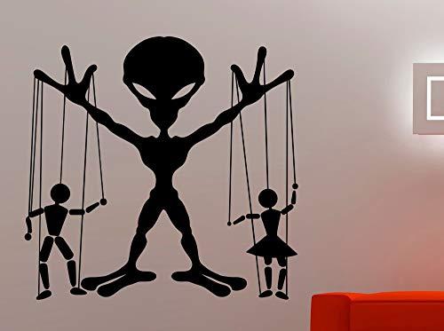 BailongXiao Rahmenlos-Stickman Silhouette und Marionette Silhouette spezielle Wand