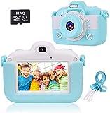 slopehill Appareil Photo Enfants Numérique Caméra pour Enfant 3,0 Pouces Tactile Écran 1080P HD 18MP avec 32 Go SD Carte,Objectif Avant et Arrière Flash Selfie Zoom Cadeaux 3 à12 Ans (Bleu)