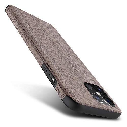 iPhone12 ケース iPhone12 Pro ケース ベルク iPhone 12 / 12 Pro 6.1インチナチュラルウッド ハードケース/ブラックローズ