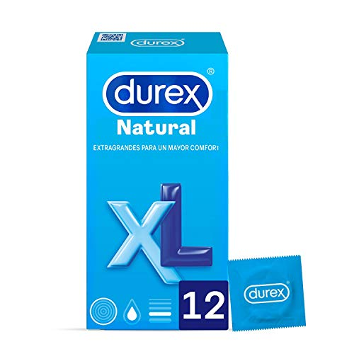 Durex NATURAL XL UDS Kondome, Transparent, 12 stück
