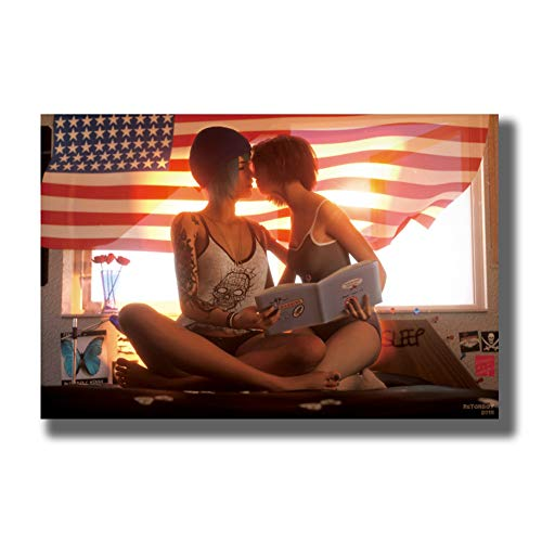 Life Is Strange New Game Posters and Prints Art Poster Canvas Painting Decoración para el hogar Impresión en lienzo Decoración en el hogar -60x90cm Sin marco