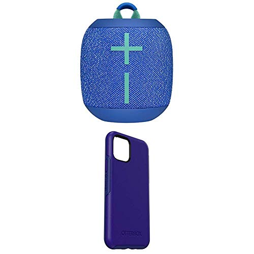 Ultimate Ears WonderBoom 2, mobiler kabelloser Bluetooth-Lautsprecher, blau + Symmetry Elegante & dünne Schutzhülle für iPhone 11 Pro Sapphire Secret - Blau