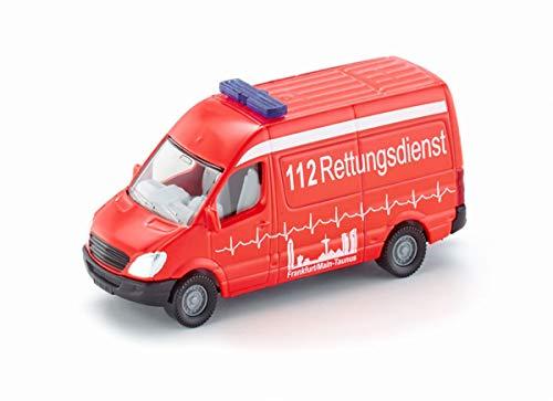 siku 0805, Krankenwagen, 1:87, Metall/Kunststoff, Rot, Vielseitig einsetzbar, Spielzeugfahrzeug für Kinder