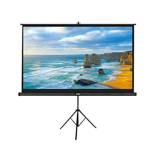 XLOO 100 Inch Projector Screen,for Outdoor Indoor,Pull Up,with Stand Portable,Height Adjustable Wrinkle-Free Projection Screen,16:9