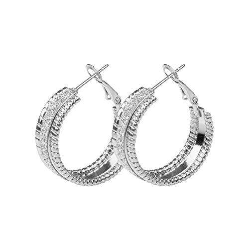 Boucles d'oreilles à Sabot d'or pour Femme Ronde 25mm Bijoux de Mode Brillante Femmes Accessoires pour Femmes 2021 Nouveau TINGG (Color : Gold25mm)