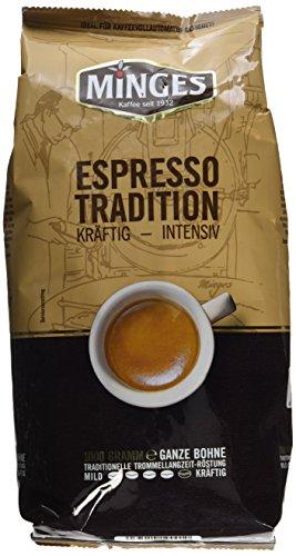 Minges Espresso Tradition 1932, ganze Bohne, Aroma-Softpack, 1.000 g, 1er Pack (1 x 1 kg)