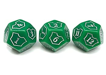 Hedral MTG D12 Spin-Down Loyalty Counter Dice 3 Die Set Green - Magic  The Gathering TCG CCG Planeswalker