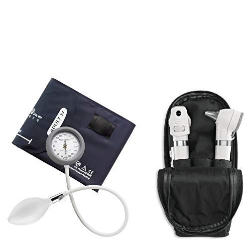 Kit Welch Allyn Otoscopio E Oftalmoscopio Pocket Plus Branco + Esfigmomanometro Durashock Ds44 (Branco)