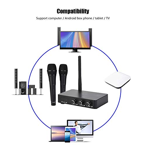 fasient Handheld Rechargeable Karaoke Machine, Home Karaoke, Microphone System TV Tablet for Box Phone Computer