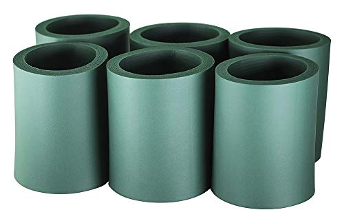 Pinnacle Mercantile Beer Can Coolers Thick Insulators Foam Non-Collapsible Green Set 6