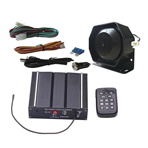 SA Comme 100 W Fédéral Sirène Kit as71005-spk0021 Lot de 3 Lot de 20 tons 12 V avec sirène boîte Haut-parleur Télécommande sans fil microphone Convient pour différents véhicules