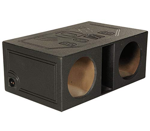 QPower QBOMB12VL 12' Dual Vented Ported Car Subwoofer Sub Box Enclosure